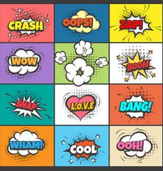 comic pow bubbles vector image