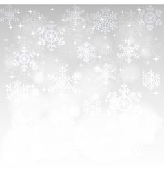glowing snowflakes and bokeh vector image vector image