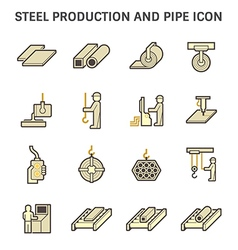 Pipe production icon yellow vector image