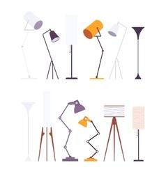 Set of floor lamps vector image