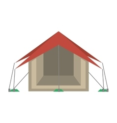 tourism tent camping excursions vector image vector image