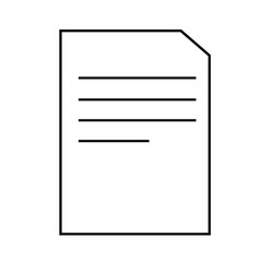 a4 document icon vector image