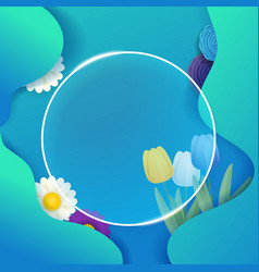 Abstract background with glass frame template vector