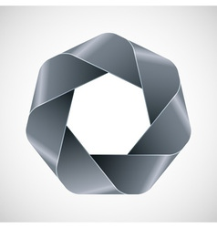 Abstract gray polygon icon vector