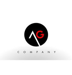 Ag logo letter design vector