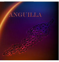 Anguilla blank detailed outline map set - version vector