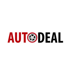 auto deal logotype - symbol isolated on vector image