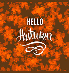 autumn brown background vector image vector image
