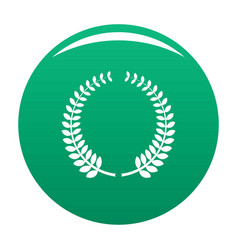 awarding icon green vector image