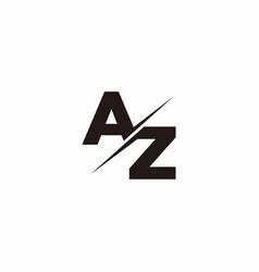 Az logo letter monogram slash with modern logo vector