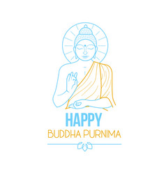 banner buddha purnima vector image
