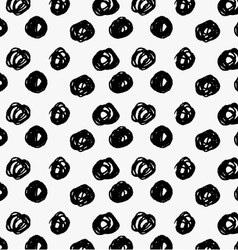 Black marker big scribble dots vector image