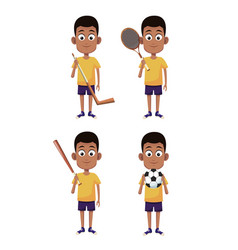 Boys and sports vector