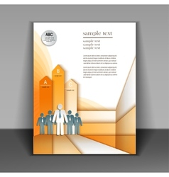 Business booklet layout vector