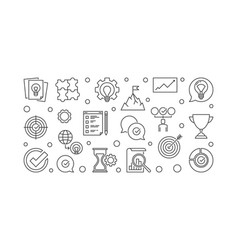 Business values horizontal outline vector