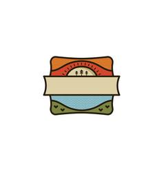 camping and hiking vintage badge flat design vector image