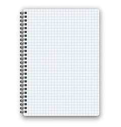 Cheked notebook vector