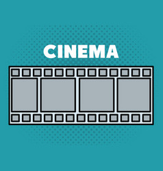 Cinema tape entertainment icon vector