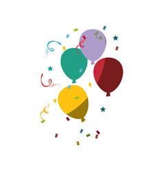 Colorful balloons design vector