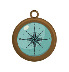 compass object exploration and navigation vector image