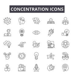 Concentration line icons for web and mobile design vector