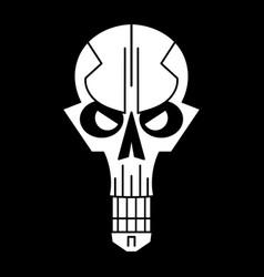 Cool skull logo on black background vector