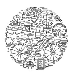 creative of active lifestyle vector image