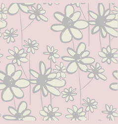 daisy sketch hand drawn color texture vector image