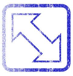Exchange diagonal framed textured icon vector