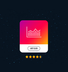 Financial chart line icon finance graph vector