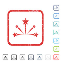 Fireworks bang icon rubber watermark vector