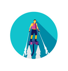 flyboard icon summer vacation vector image