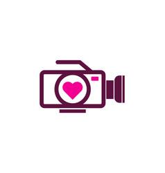 frame love logo icon design vector image