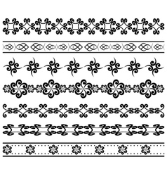geometric borders for design vector image vector image
