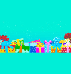 gift boxes for holidays for christmas or birthday vector image