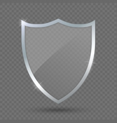 Glass shield on transparent background protect vector