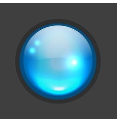 Glossy circle button for your design vector