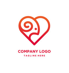 Goat heart logo design vector