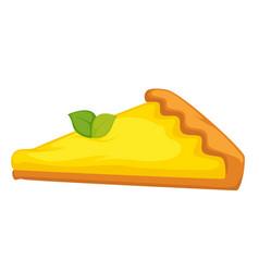 Lemon cheesecake isolated cake citrus flavor vector