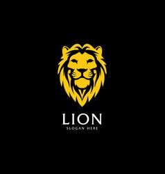lion king shield logo vector image