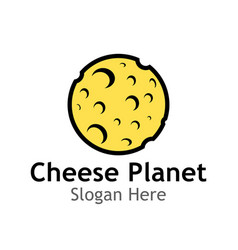 logo of cheese planet vector image