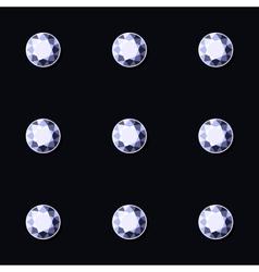 Luxury Dark Seamless Background with Blue Diamonds vector image