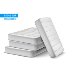 Mattress stack realistic composition vector