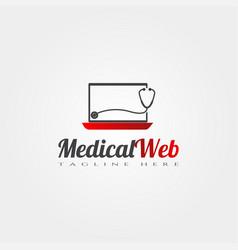 Medical web icon template creative logo design vector