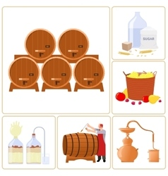 Moonshine and whiskey vector