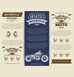 Moto club vintage banners template vector