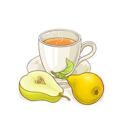 pear tea vector image