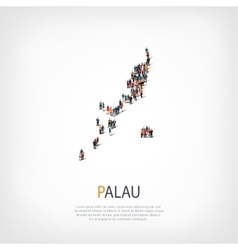 people map country Palau vector image