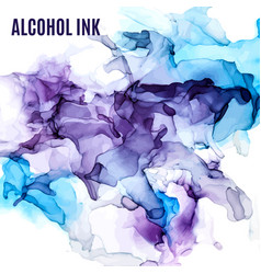 purple and blue shades ink background wet liquid vector image