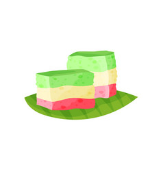 Rainbow kue lapis or traditional indonesian vector